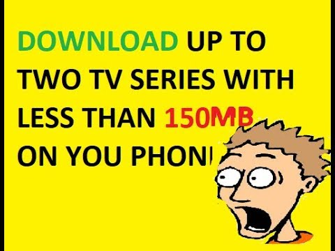 How to download TV-SERIES of size 350+MB with less than 80MB on your Android phone.