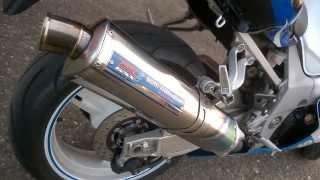 6. Yoshimura Tri Oval Fire Spec Suzuki GSX-R 750 K1 mit DB Killer
