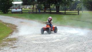 Video 3 year old on 4 wheeler doing brodies MP3, 3GP, MP4, WEBM, AVI, FLV Juli 2017