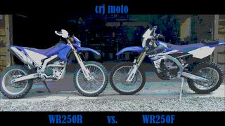 6. Part I of II: wr250r vs. wr250f