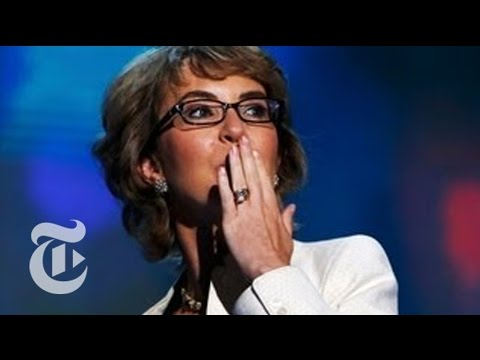 Gabrielle Giffords recites the Pledge of Allegiance at the DNC - Elections 2012