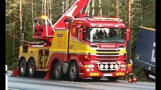 Video Scania Boniface Rotator Truck - Heavy Recovery of Semi Trailer - Sweden MP3, 3GP, MP4, WEBM, AVI, FLV Juli 2018