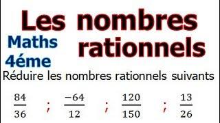 Maths 4ème - Les nombres rationnels Exercice 13