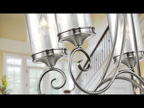 Video for Lara Classic Pewter Nine-Light Chandelier
