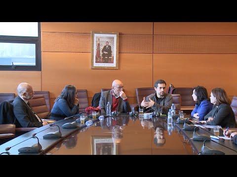 استقبال الطبيب الكندي الفلسطيني طارق لوباني بمجلس المستشارين