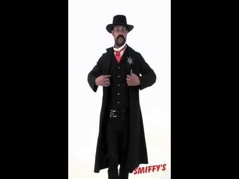 Costume de Shériff classique noir