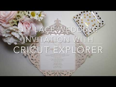 DIY LACE WEDDING INVITATION USING CRICUT EXPLORE