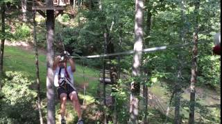 Conquering the  VORDACH Zip Line and Canopy Tour- Sapphire, NC