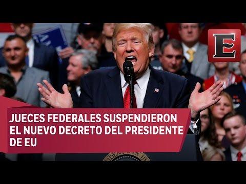Trump promete batalla judicial por veto migratorio