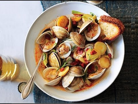zuppa di vongole e patate - la video ricetta