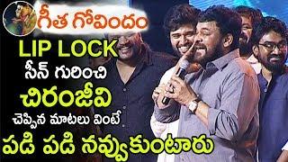 Video Chiranjeevi Making Fun WIth Vijay Devarakonda about Geetha Govindam Movie LIP LOCK Scene | LA Tv MP3, 3GP, MP4, WEBM, AVI, FLV Maret 2019