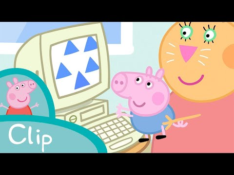 Peppa Pig Episodes - Daddy Pig's office (clip)