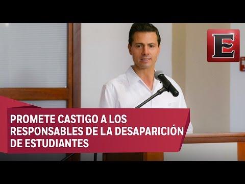 """""""Se esclarecerán los hechos en Iguala"""": Peña Nieto"""