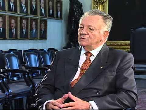 Diplomacia-Entrevista com presidente do Paraguai, Juan Carlos Wasmosy