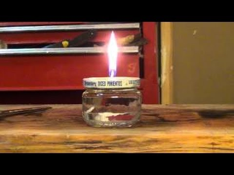 How to make an emergency survival cooking oil candle – HD