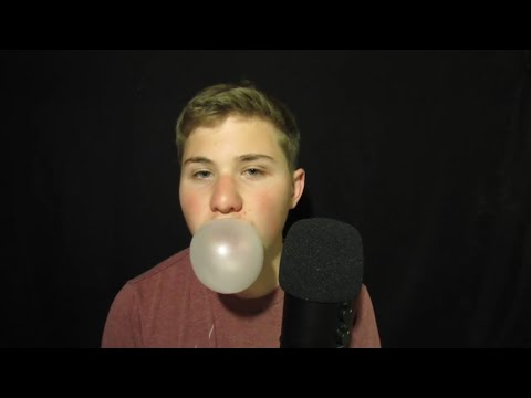 (ASMR) Gum Chewing and Blowing Bubbles