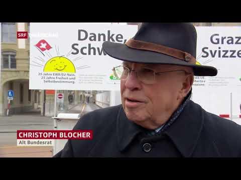 Tagesschau: Christoph Blocher zu 25 Jahren EWR/EU-Nein