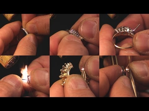 """<h3>6 Jewelry Laser Welding Repairs in 60 Seconds! </h3>In this laser welding video brought to you by <a dir=""""ltr"""" title=""""http://laserstar.net"""" href=""""http://laserstar.net"""" target=""""_blank"""" rel=""""nofollow"""">http://laserstar.net</a>, we demonstrate the wide range of laser welding applications available including re-sizing a silver ring, re-tipping a cluster setting, extending a prong, repairing an earring post, repairing a split seam in a hollow part, and replacing a broken nose piece on eyeglasses. Our laser welders are versatile, easy to maintain, and incredibly powerful.<br />"""