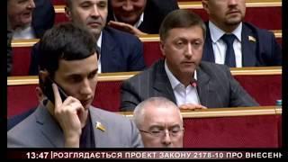 Народний депутат України Сергій Лабазюк захищає свої поправки до законопроекту про ринок землі
