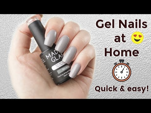 GEL NAILS AT HOME TUTORIAL & REVIEW!  MADAM GLAM