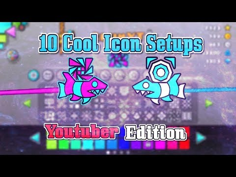 10 Cool Icon Setups (Youtubers Edition!) ~ Geometry Dash