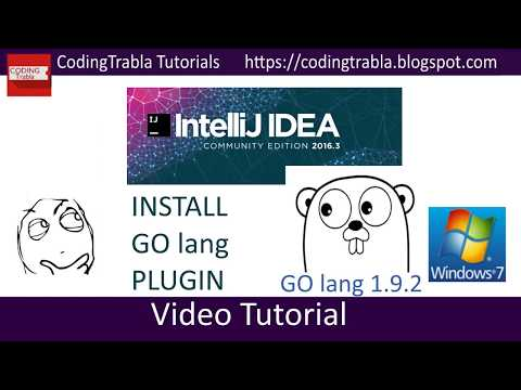 IntelliJ IDEA 2016.3.7 & GO lang : how to install golang plugin, create and run simple project byAO