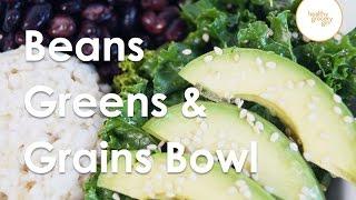 Sesame Kale Beans & Rice
