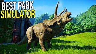 GREATEST PARK ON EARTH | Dinosaur Park Tycoon Simulator | Jurassic World Evolution Gameplay