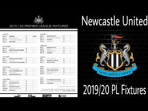 REACTING TO THE 2019/2020 NEWCASTLE UNITED PREMIER LEAGUE FIXTURES!