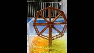 Simples roda d'água caseira para aquário (teste)