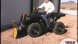 9. ATV Television Product Review - Warn Cyclone Plow and Manual Lift
