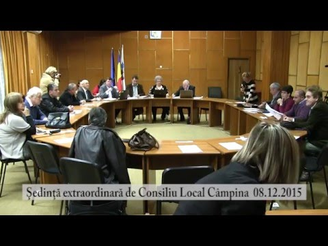 Sedinta extraordinara Consiliul Local Campina din 8 dec. 2015 – partea I