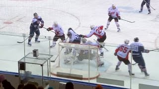 Zaripov uses the shortest way to the net