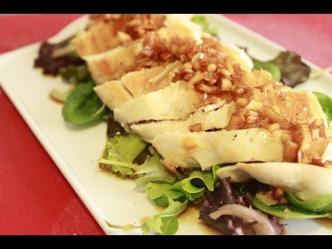Pechuga Pollo con cebolla marinada en Salsa de Soja