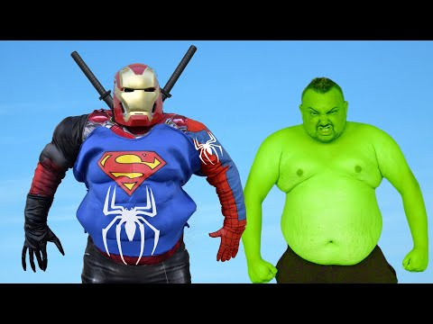 Hulk VS Frankenstein Made Of Superheroes