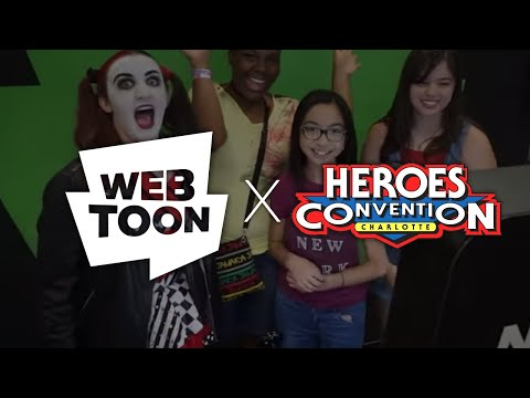 WEBTOON at HeroesCon 2018 видео