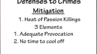 Crim Law  4: Defenses To Crimes Part 3 Of 3