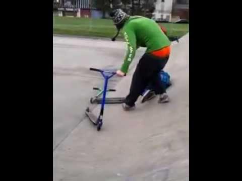 marco lancaster skatepark scooter crash