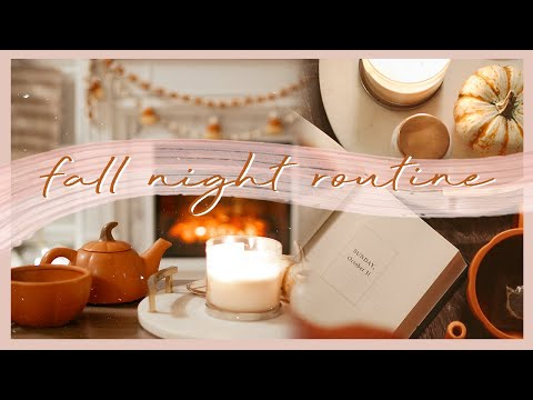 FALL NIGHT ROUTINE | a peaceful & cozy autumn evening 🍂🕯☕️