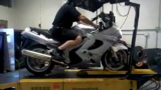 9. Stock ZZR1200 dyno test MaxRPM Those Guys Rod & Customs