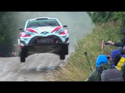 wrc rally poland 2017 - day 2 highlights