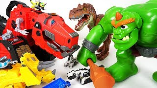 Video Huge Ogre and dinosaur appeared in Tayo town! Help us! Dinotrux Mega Lux! - DuDuPopTOY MP3, 3GP, MP4, WEBM, AVI, FLV Desember 2017