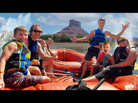 River Rafting with The Ninja Fam in Moab!