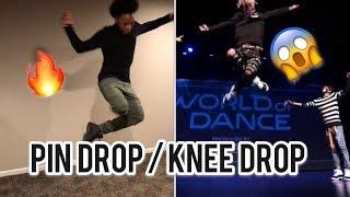 Video How to do Pin Drop / Knee Drop Dance ( Knee Drop like Ayo and Teo ) MP3, 3GP, MP4, WEBM, AVI, FLV November 2017