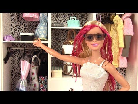 Garde-Robe de Barbie Vêtements et Accessoires Placard de Poupées