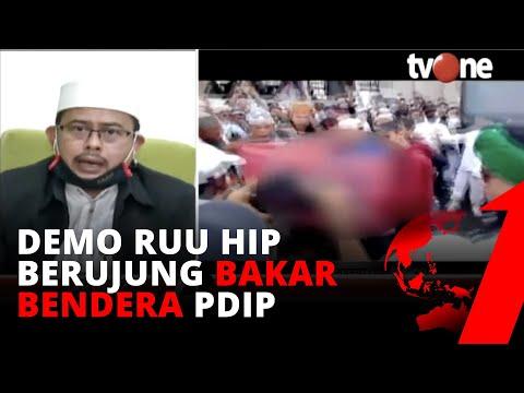 Saling Sikat! Buntut Demo RUU HIP Bakar Bendera PDIP, Ketua PA 212: Jangan Berlebihan   tvOne