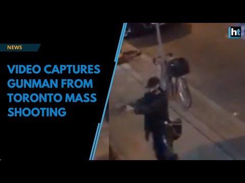 Video captures gunman from Toronto mass shooting