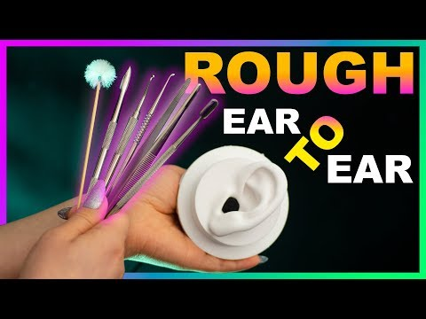 ASMR Rough Ear Cleaning ( no talking ) 1 hour Intense Ear to Ear Penetrating