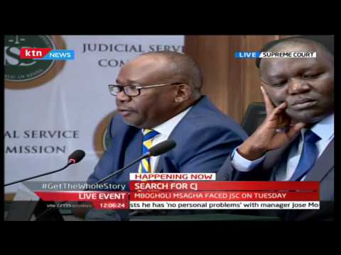 CJ Interviews:Justice David Maraga being interviewed at the supreme court