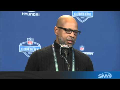 Video: Jerry Reese talks JPP at Day 2 of the NFL Combine